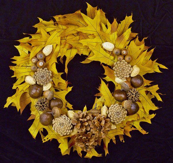 Beautiful wreath for fall.
