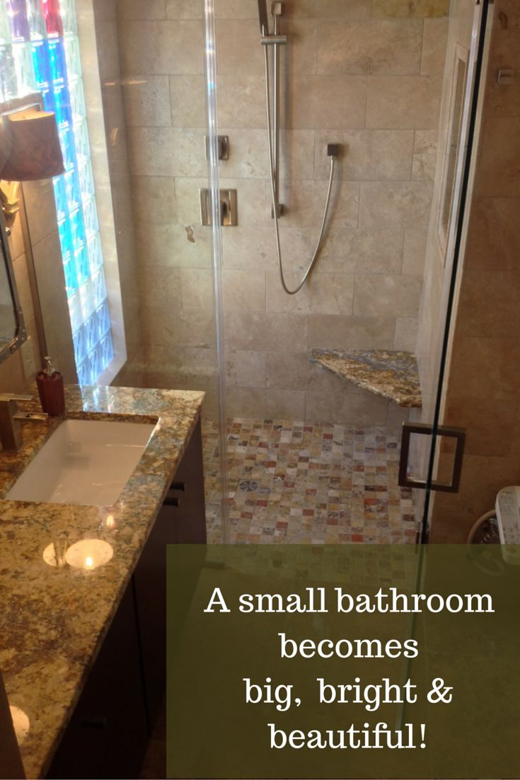 a small bathroom becomes big bright and beautiful