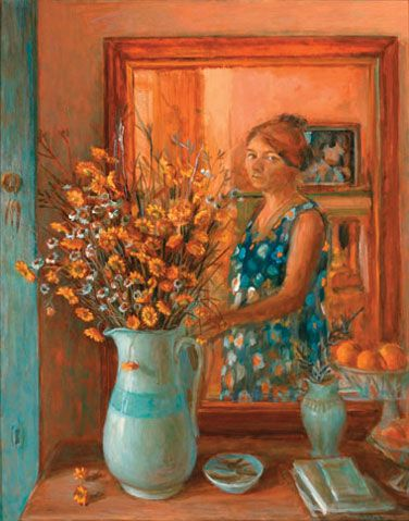 Olley-Margaret_Self-portrait-with-everlastings