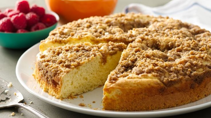 Streusel Coffee Cake, double the struesel and add a layer to the middle of the cake