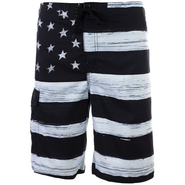 Men's American Flag Swim Trunks (Assorted Designs) ($13) ❤ liked on Polyvore featuring men's fashion, men's clothing, men's swimwear, mens clothing, men's apparel, mens swimwear, mens swim trunks and mens swimshorts
