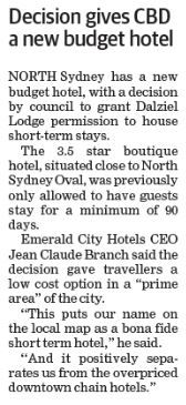How cool – our sister hotel Dalziel Lodge is in The Mosman Daily (page 5). Hit that repin  button!