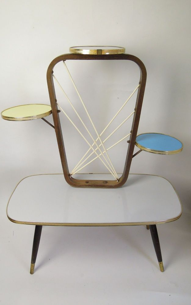 ORIGINAL 1960s PLANTSTAND EAMES PANTON DANISH MODERN PLANT STAND 50s 60s ATOMIC in Antiques, Periods/Styles, Modernist | eBay!