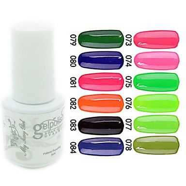 YeManNvYou®Sequins UV Color Gel Nail Polish No.73-84 (5ml, Assorted Colors) - USD $ 2.99