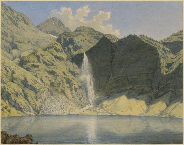 Eugène Viollet-le-Duc, le lac de Gaube et le sommet du Vignemale, 31 juillet 1833 Aquarelle  Ministère de la Culture (France), Médiathèque de l'architecture et du patrimoine, dist. RMN