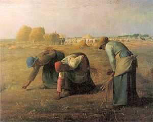 The Gleaners ~ Jean-Francois Millet ~ The Barbizon school of painters were part of an art movement towards Realism in art, which arose in the context of the dominant Romantic Movement of the time.