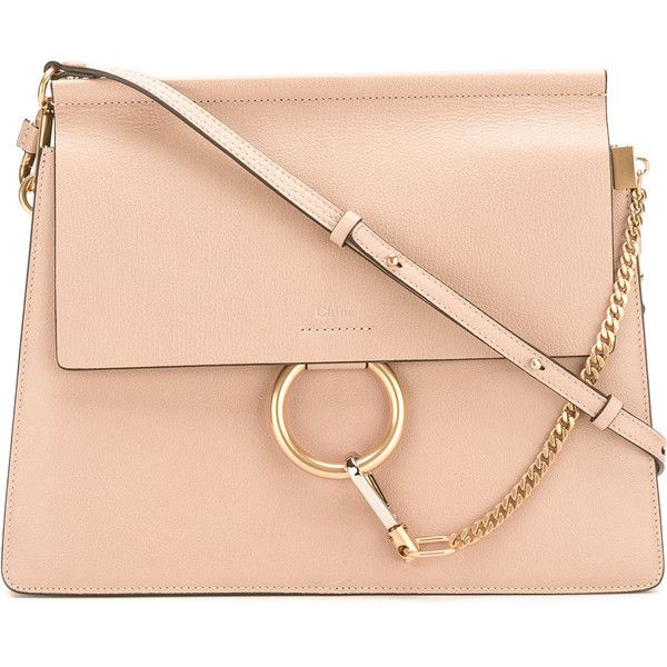 Chloé Faye Shoulder Bag ($2,050) ❤ liked on Polyvore featuring bags, handbags, shoulder bags, chain shoulder bag, shoulder hand bags, shoulder bag purse, chloe purse and red handbags