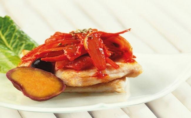Pescado en salsa de escabeche