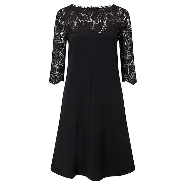 Marc Cain Lace Detail Dress, Black
