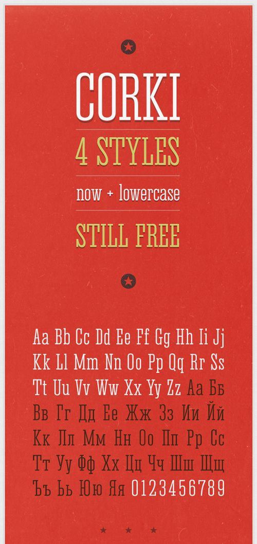 Corki V.02 free fonts of year 2013  #freefonts #bestof2013 #fonts