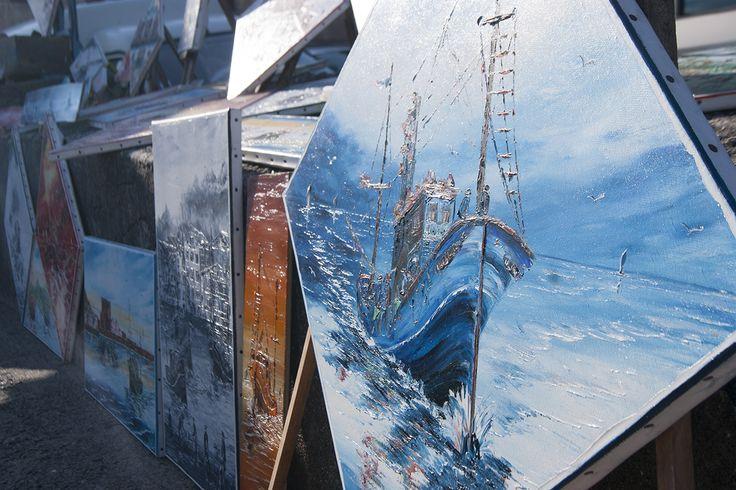 El mar de San Juan de Luz (Francia) en paradas de arte.