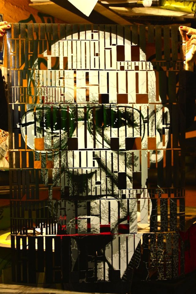 Typo Stencil Portraits by Orticanoodles. Oh man I love these. I need one of these in my life.
