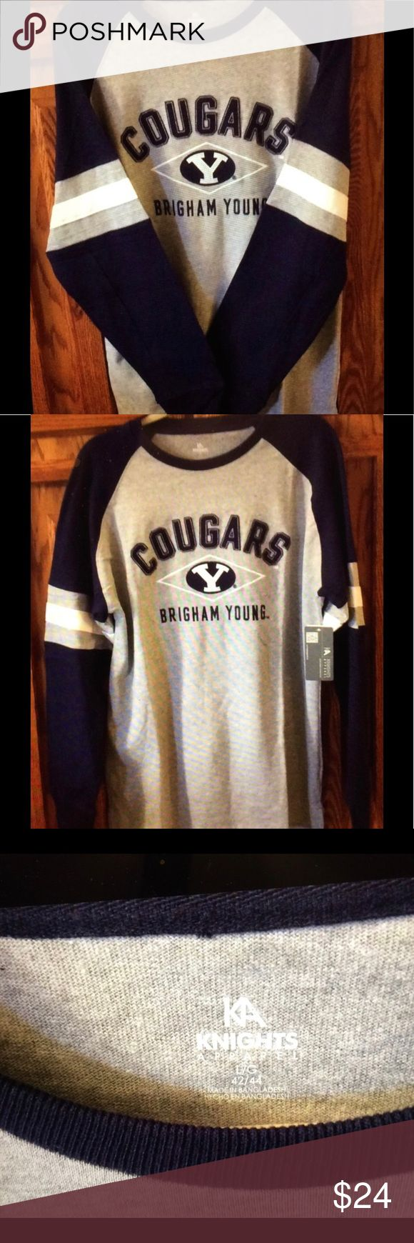 NWT -BYU COUGARS HEAVY DUTY SWEATSHIRT/JERSEY. NWT - HEAVY DUTY BYU COUGARS COLLEGE SWEATSHIRT/JERSEY. Awesome for all the BYU sports fans in your family. GO COUGS!!! 😃 KA Knights Apparel Shirts Sweatshirts & Hoodies