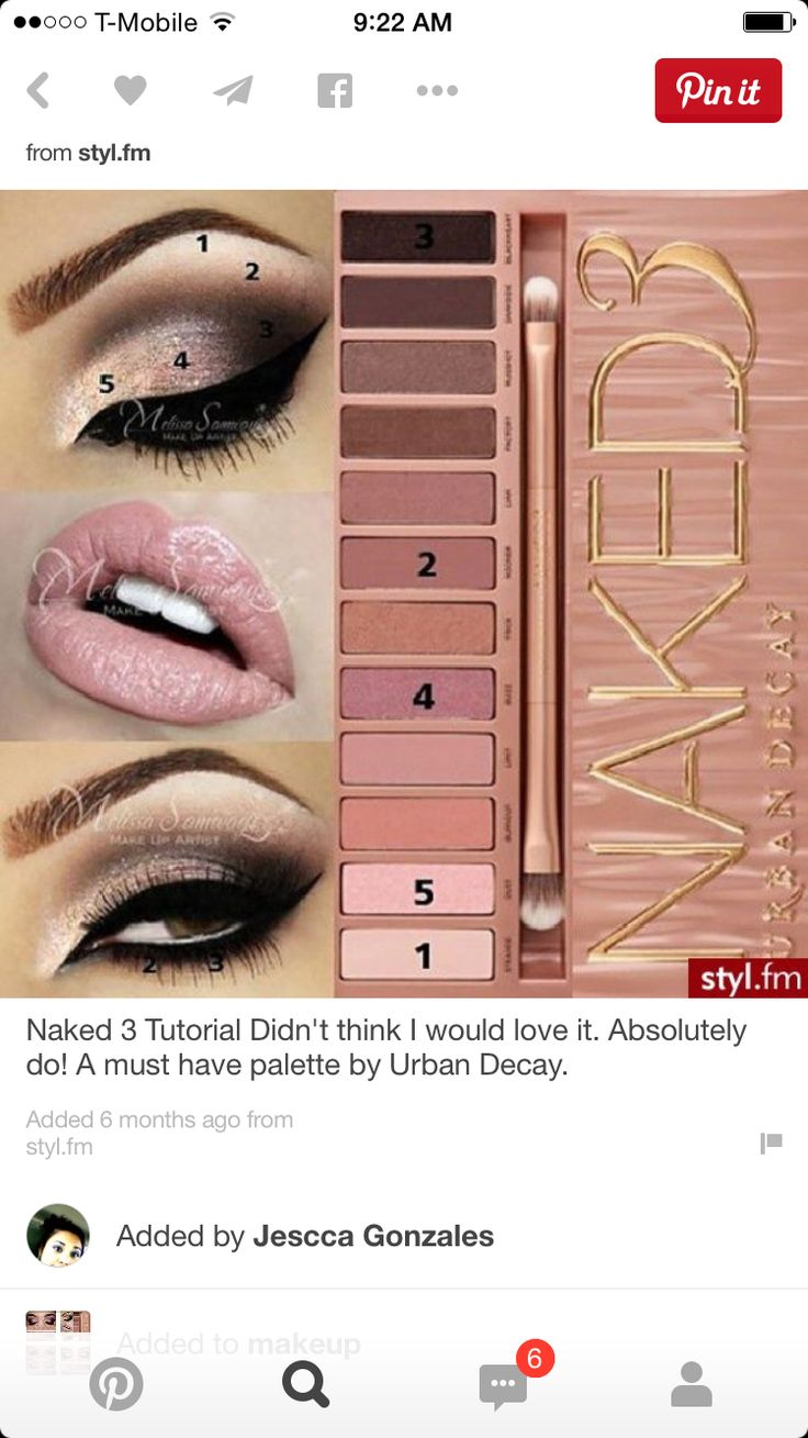 Naked 3 Makeup Look for Stage