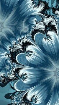 Kwiatowy niebieski motyw