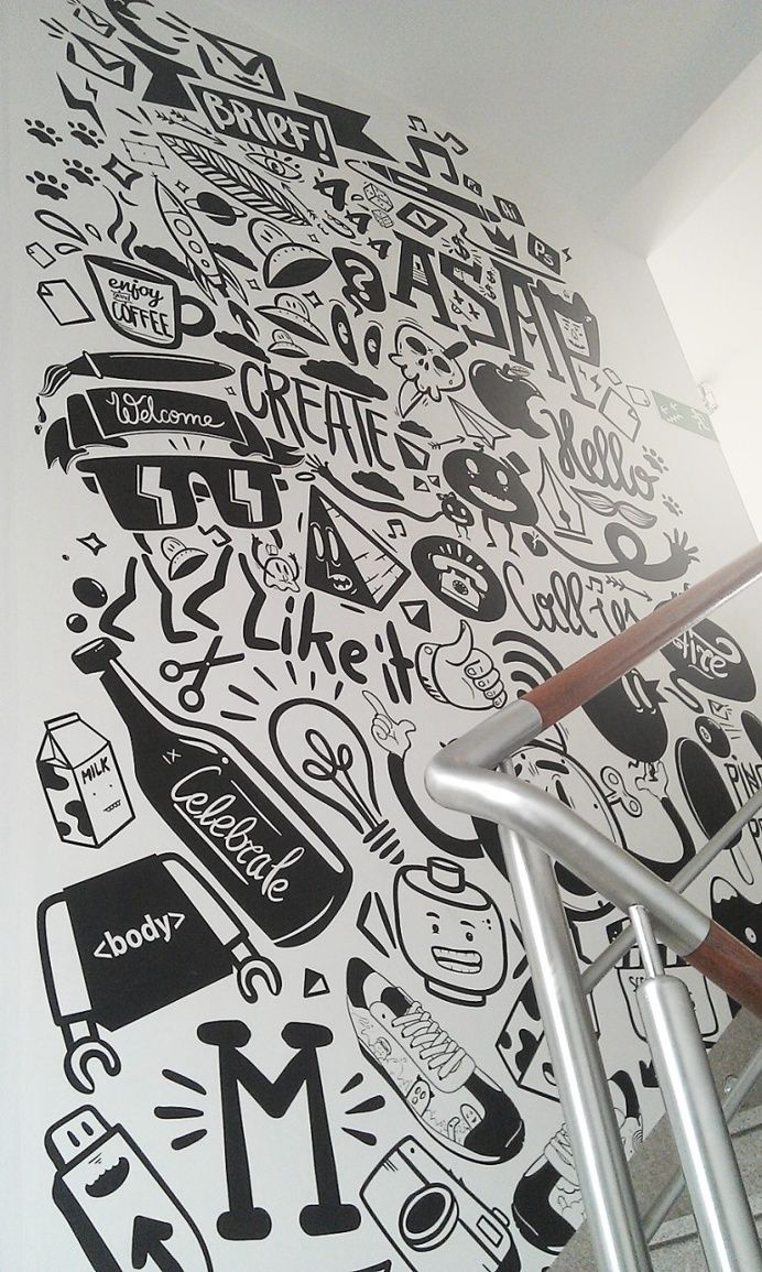 Agency life mural – peterjaycob in Design