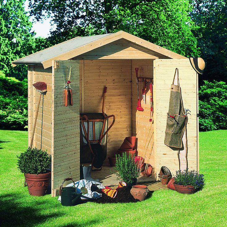 abri jardin bois 2 90 m2 tobin 1 14mm karibu prix 535. Black Bedroom Furniture Sets. Home Design Ideas