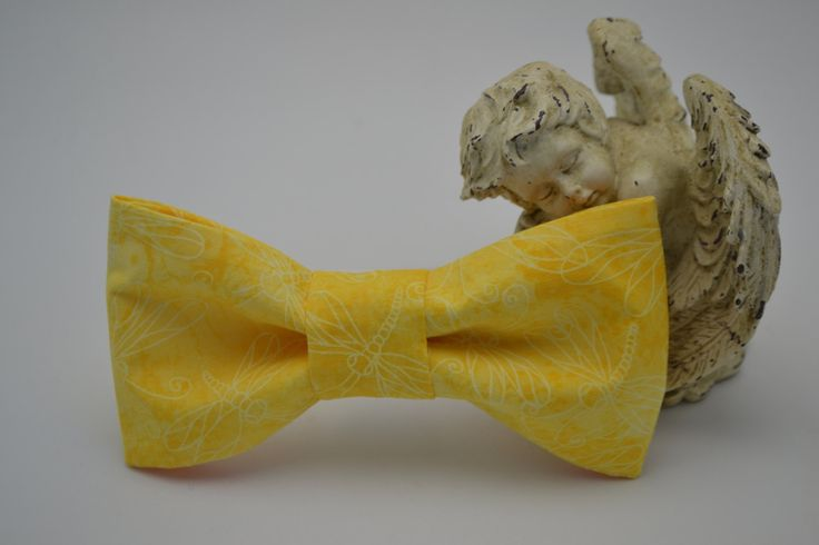 Beautiful Yellow Dragonfly Print Dog Collar Bow Tie Attachment , Pet Supplies, Pet Collar, Dog Collars, Unique Pet Collar Attachments by HaleysPetBoutique on Etsy