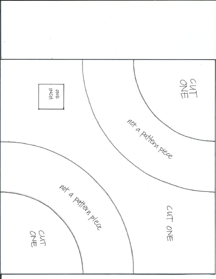 template for Snake Trail block (8.5 inch unfinished) by