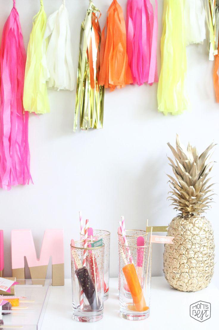 summer popsicle party, popsicle drinks. via momsbestnetwork.com
