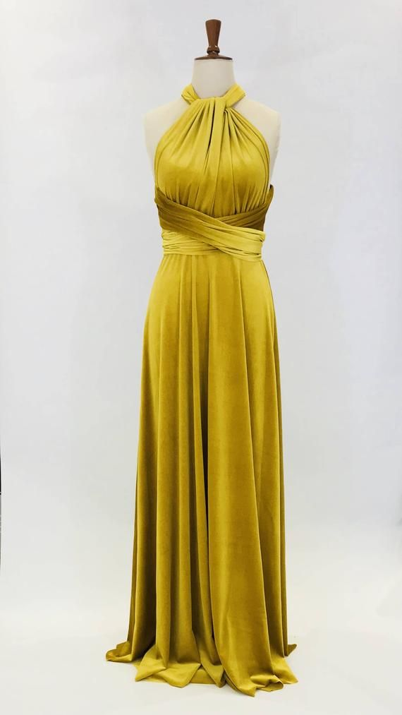 e52799e1346 Beautiful infinity multiway convertible dress made in a rich mustard yellow  velvet. To