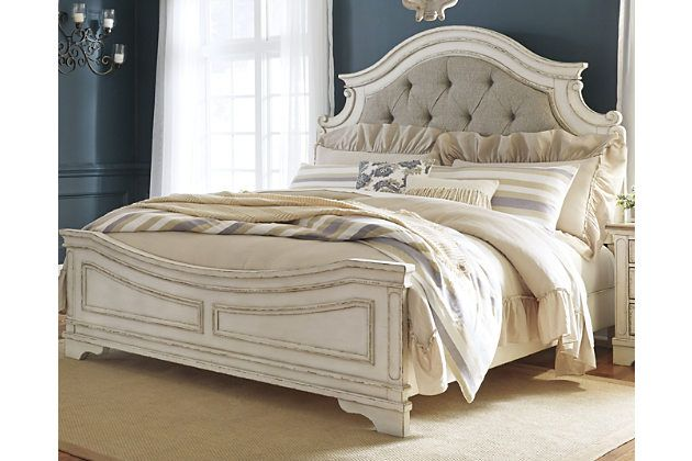 Realyn Queen Upholstered Panel Bed Ashley Furniture Homestore Upholstered Panel Bed Queen Upholstered Bed Panel Bed