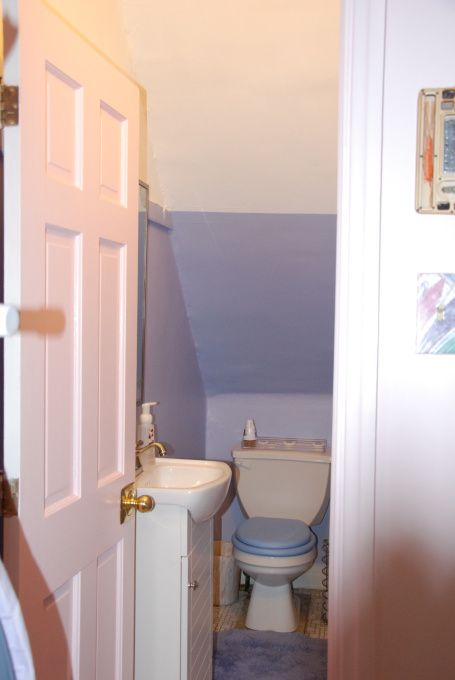 17 best images about bathroom on pinterest toilets for Bathroom under staircase designs