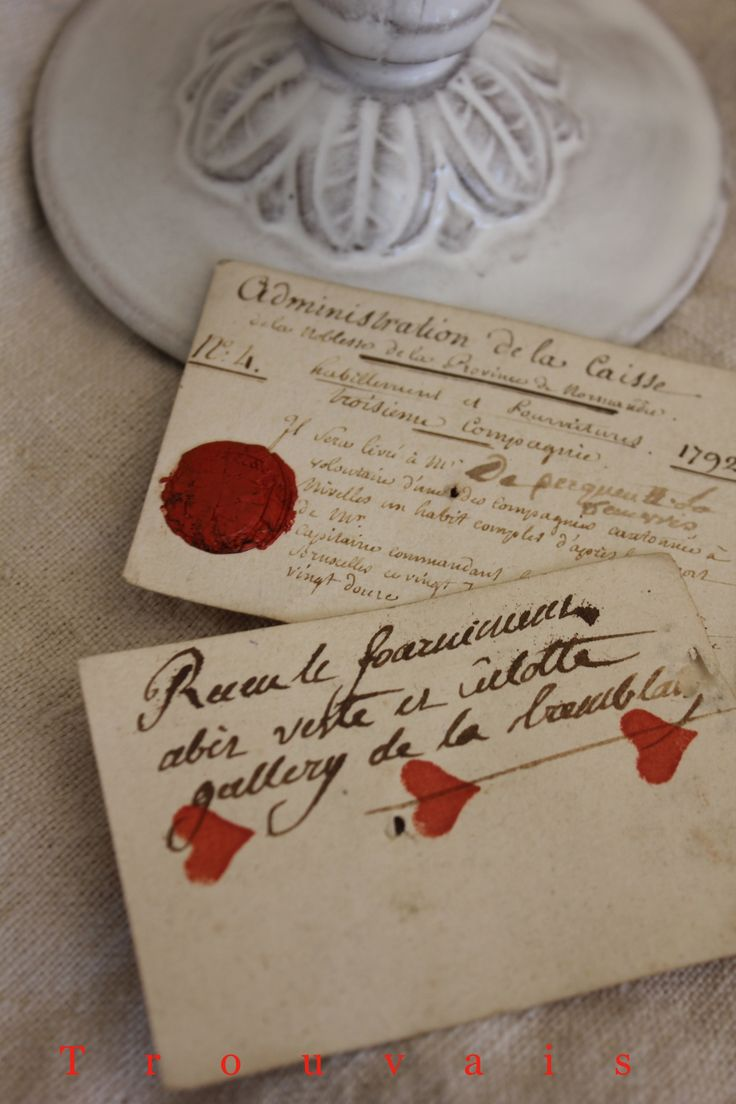 """an 18th century French Count scrawls his obligations from a losing hand on some playing cards -  """"lucky at cards, unlucky in love"""" - via Trouvais"""