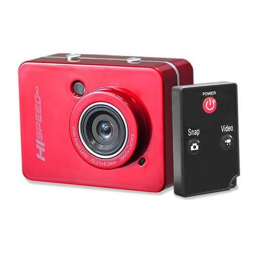 Hi-Speed HD Action Camera 1080P Hi-Res Digital Camera/Camcorder with Full HD Video, 12.0 Mega Pixel Camera & 2.4'' Touch Screen (Red Color)