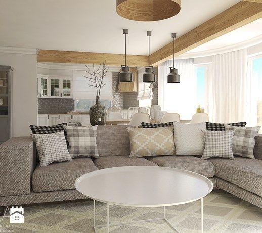 Aranżacje wnętrz - Salon: Living room w skandynawskim stylu. - Duży salon z kuchnią z jadalnią, styl skandynawski - TIKA. Przeglądaj, dodawaj i zapisuj najlepsze zdjęcia, pomysły i inspiracje designerskie. W bazie mamy już prawie milion fotografii!