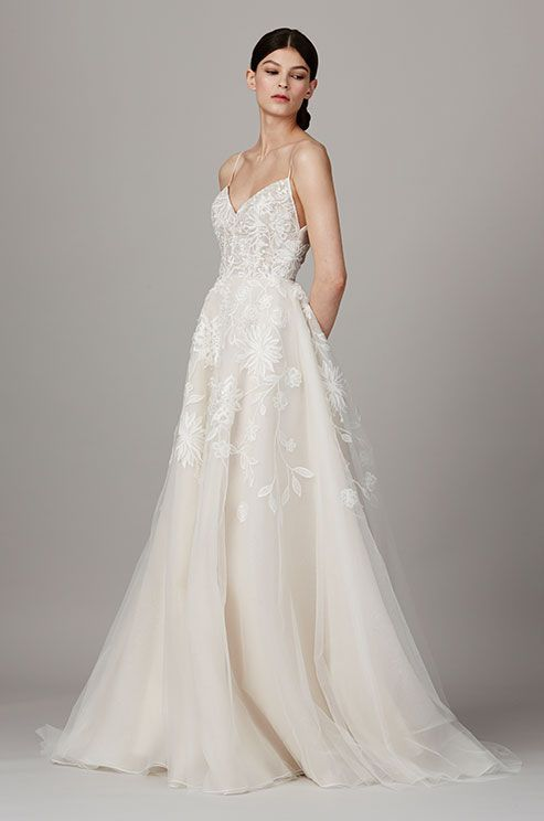 See photos of Lela Rose's Spring 2017 wedding dress collection. Lela Rose A-line wedding dress
