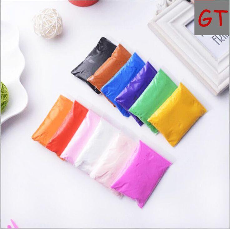 50g em 6 sacos de Ar de Secagem Super light Argila colorida diy maleável polymer clay macio modelagem plasticina playdough brinquedos para crianças