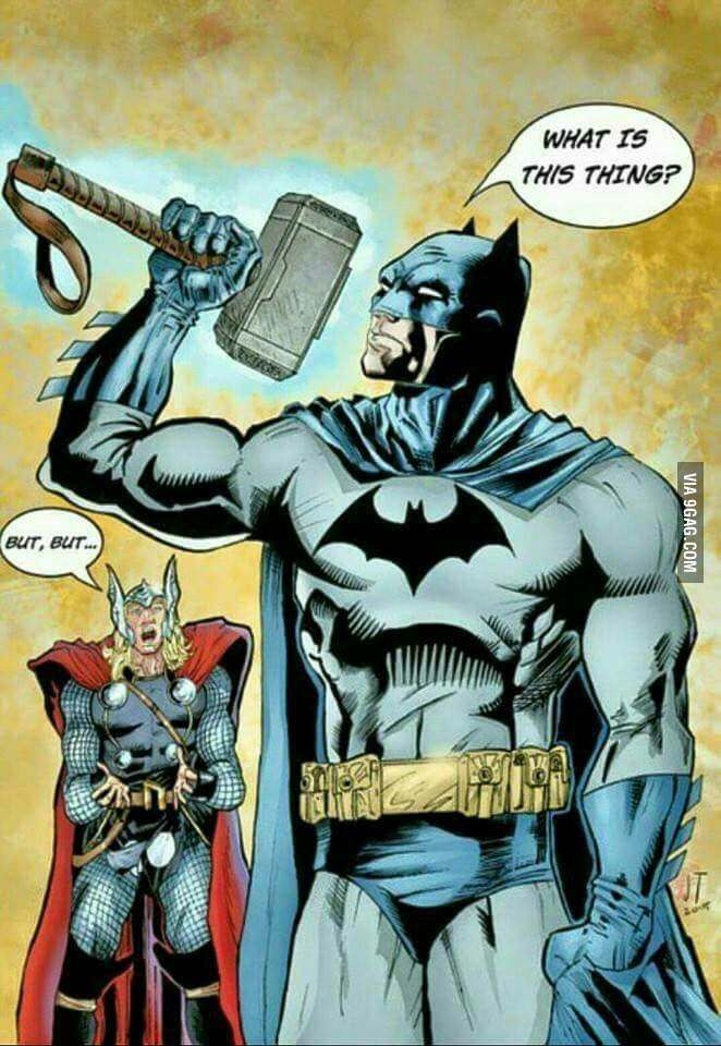 thor picking up hammer