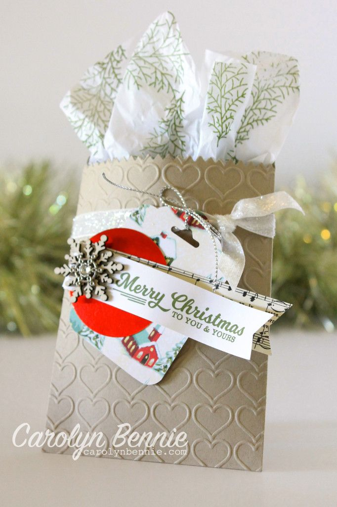 Hot Tip: Stamping on Tissue Paper adds pizzaz to your gift wrapping. It's so simple to do and yet makes your handmade projects really stand out. Carolyn Bennie - Independent Stampin' Up! Demonstrator Australia. carolynbennie.com