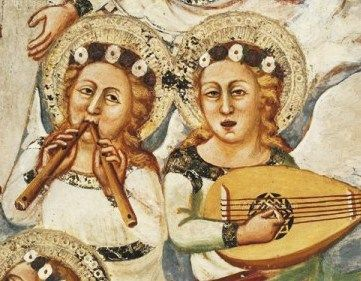 Unknown Artist (14th century) Musical Angels, Sacro Speco, Subiaco