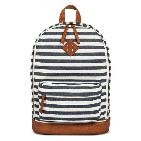 Women's Stripe Backpack Handbag Navy - Mossimo Supply Co. : Target