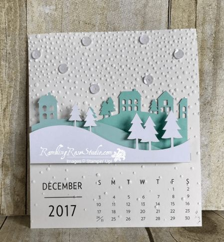 2017 December - Calendar... | Rambling Rose Studio | Billie Moan