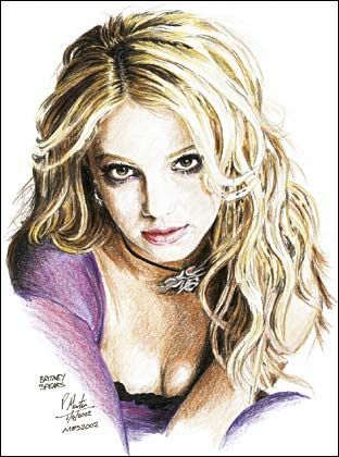 A Britney Spears drawing!