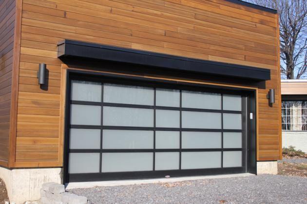 porte garage aluminium noir vitree  Recherche Google  Portes de