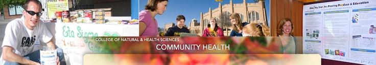 Master of Public Health in Community Health Education