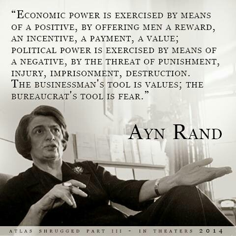 Ayn Rand (business vs. government)  PLEASE REPOST