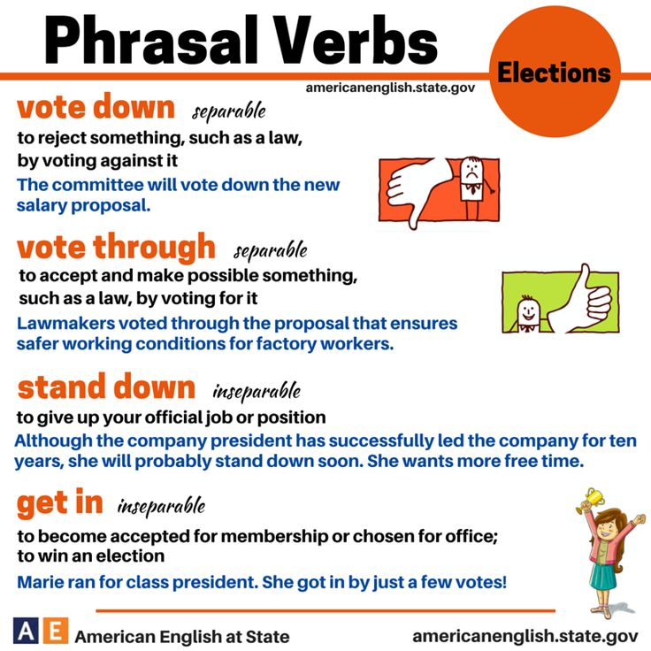 Phrasal verbs: Elections