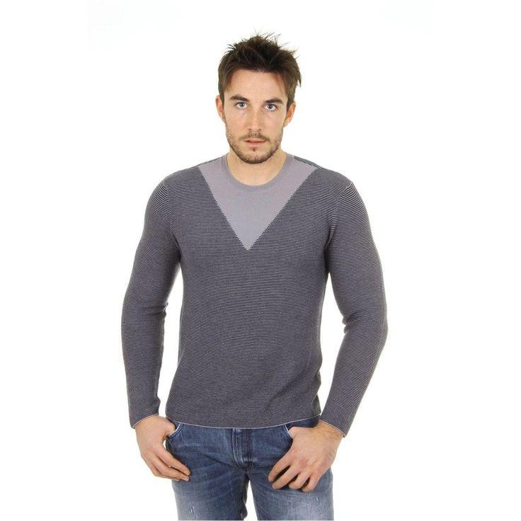 Grey 52 IT - 52 US Giorgio Armani mens cashmere sweater round neck SSM27M SS35M 611