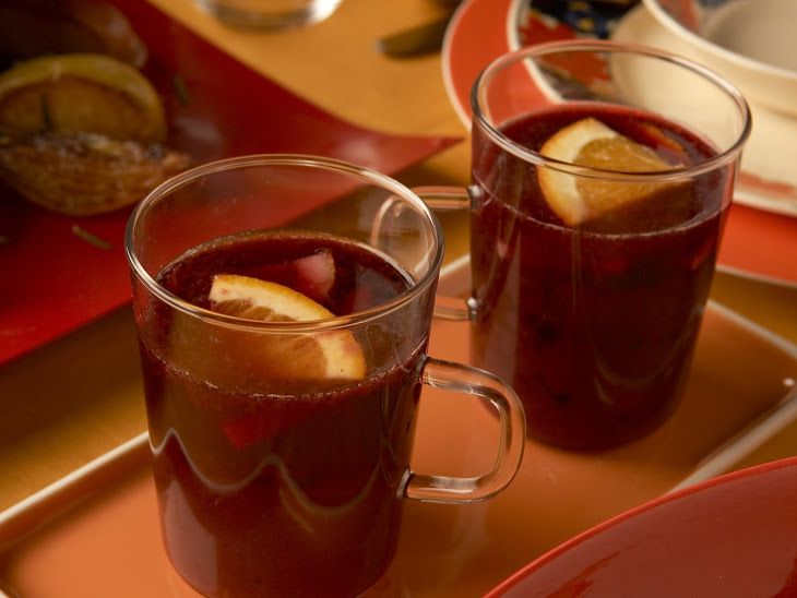 Mulled Red Wine Sangria Recipe | Yummly | Sangria recipes | Pinterest