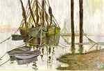 Boats - encaustic art picture by Joe McMenamin