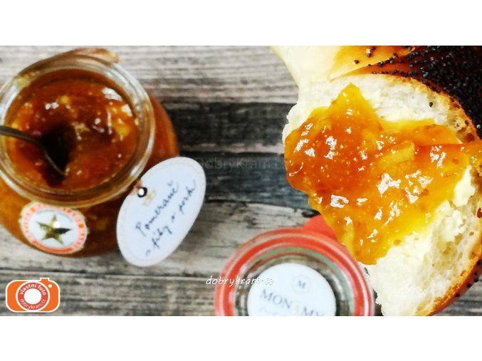 Pomerančová marmeláda s marinovanými fíky v portském