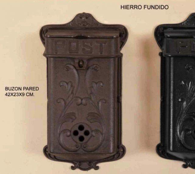 BUZÓN DE PARED HIERRO FUNDIDO. ÓXIDO 42x23x9cm IVA incluido