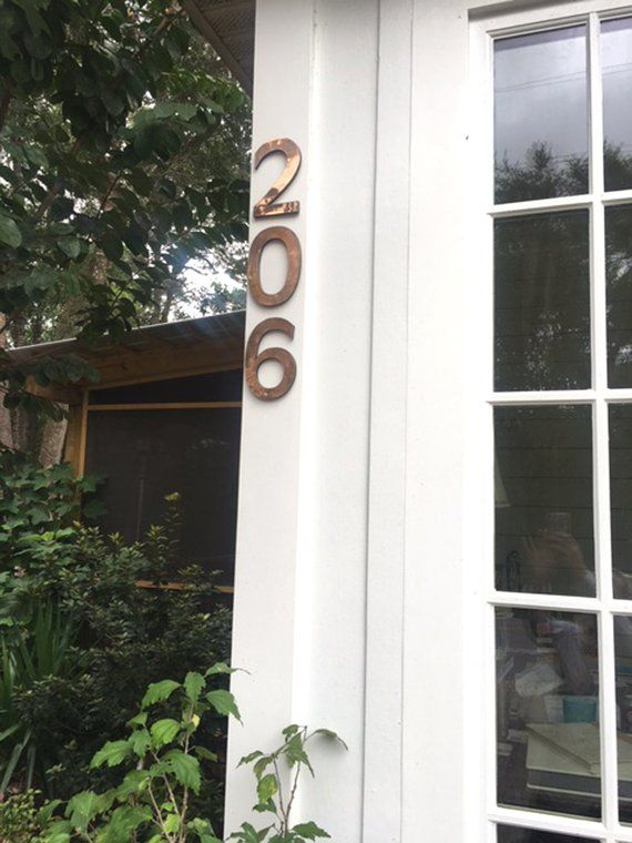 House Numbers In Polished Copper Floating 6 150 Mm High In Antigoni Font D House Numbers Floating House Copper House