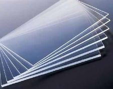 """2 Plexiglass sheets 24""""x36""""x1mm thin - you can cut to size. Has a protective peel away film on both sides"""