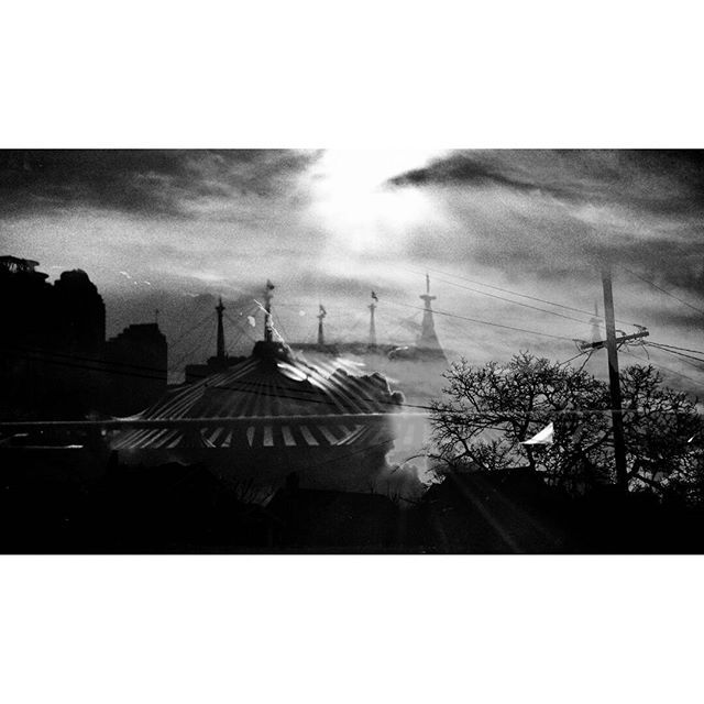 Cirque Sans Soleil  #vancouverinblackandwhite #doubleexposure#vancity #moodygram #blackwhitephotography #bnw#monochrome #bnw_city#bnw_creatives #noir_vision#simply_noir_blanc #instablackandwhite #insta_bw #streetphotography_bnw